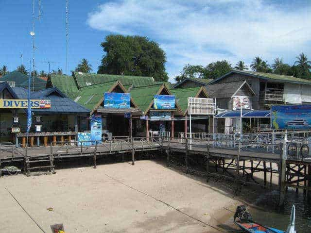Lomprayah pier and ferry terminal at Mae Haad