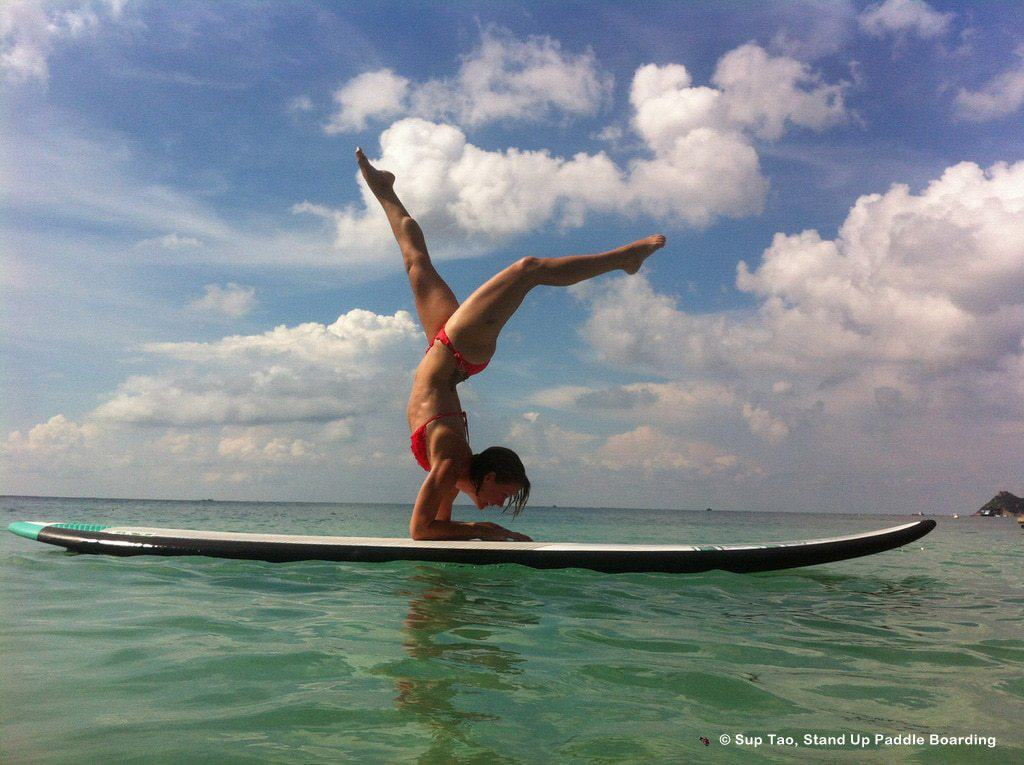 Yoga paddle boarding, Sairee