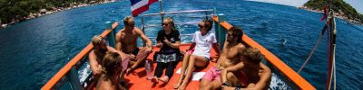 Divemaster trainees receiving a boat briefing