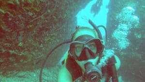 An underwater selfie, I couldn't help myself. not part of my dive master training